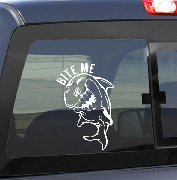 bite me 2 fishing decal - North 49 Decals