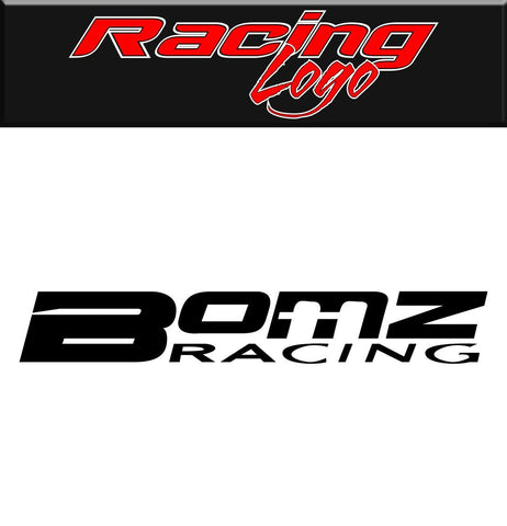 Bomz Racing decal, racing sticker