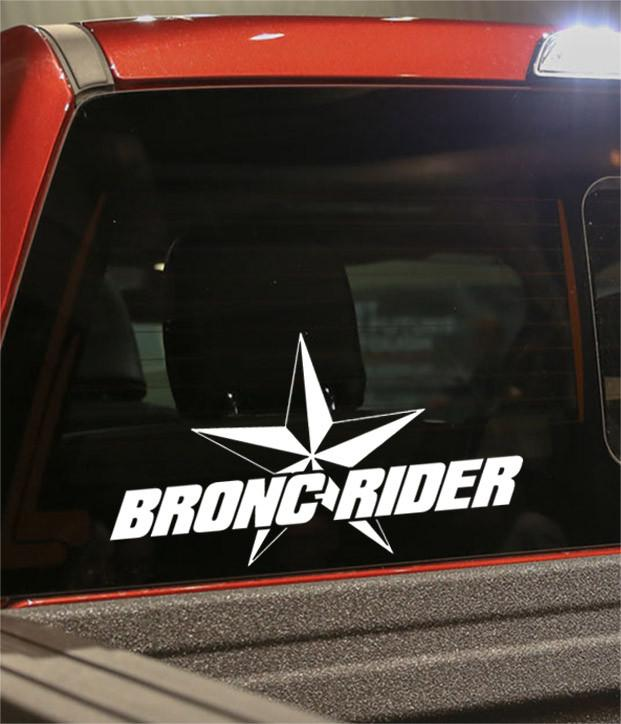 bronc rider star country & western decal - North 49 Decals