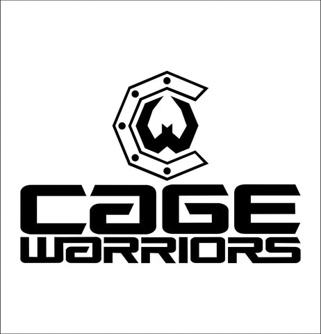 Cage Warriors decal, mma boxing decal, car decal sticker