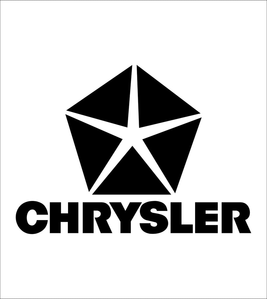Chrysler decal, sticker, car decal