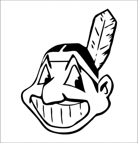 Cleveland Indians decal, car decal sticker