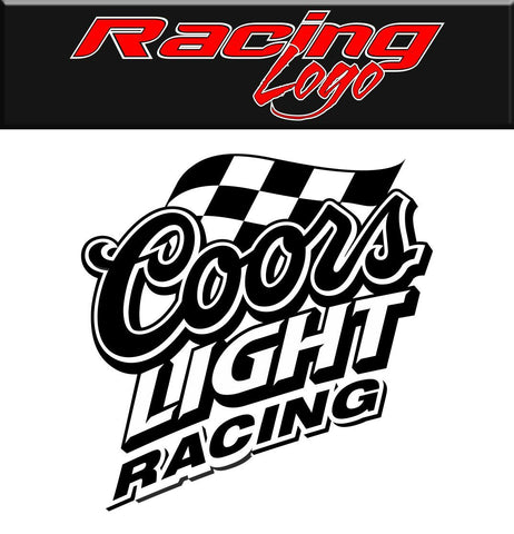 Coors Light Racing decal, racing sticker