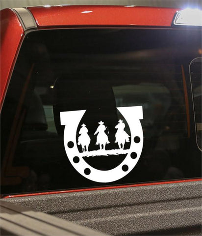 cowboys on horses 2 country & western decal - North 49 Decals