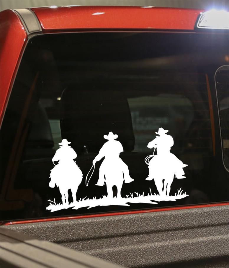 cowboys on horse country & western decal - North 49 Decals