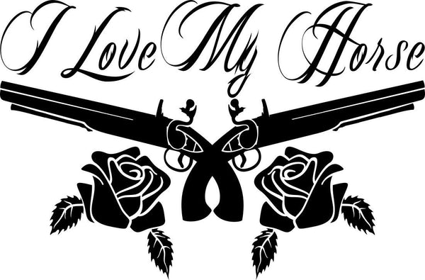 I love my horse country & western decal - North 49 Decals