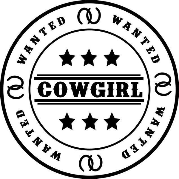 Cowgirl wanted country & western decal - North 49 Decals