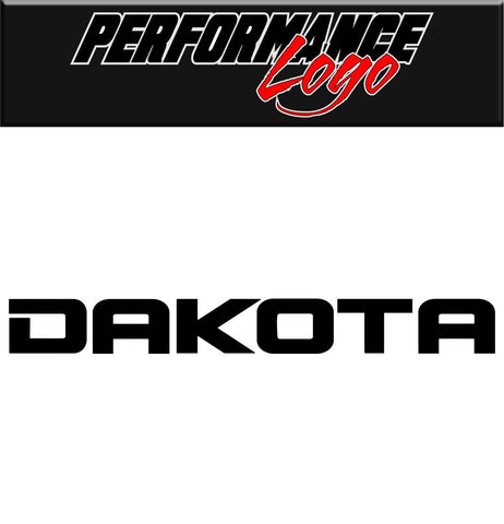 Dakota decal performance decal sticker