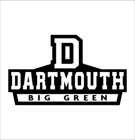 Dartmouth Big Green decal, car decal sticker, college football