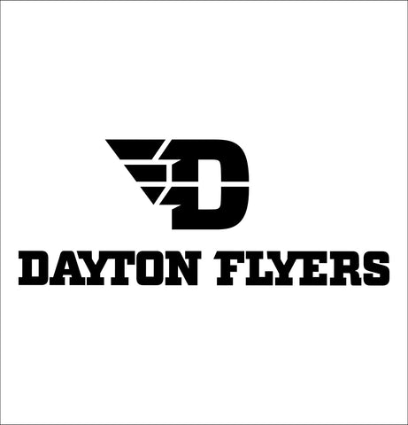Dayton Flyers decal, car decal sticker, college football