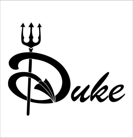 Duke Blue Devils decal, car decal sticker, college football