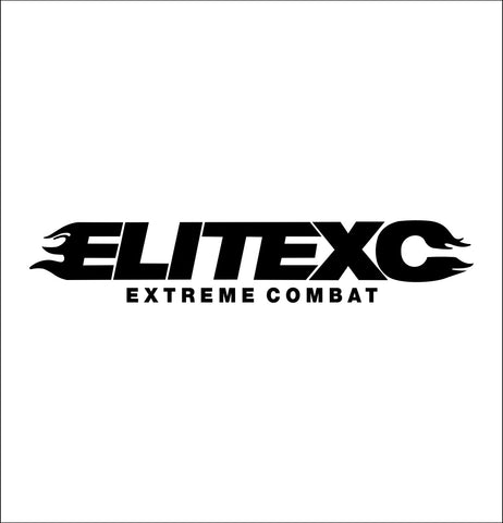 Elite XC decal, mma boxing decal, car decal sticker