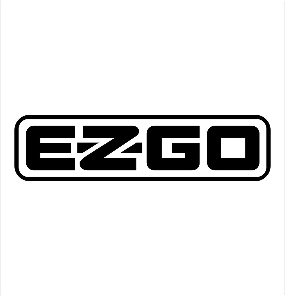 E Z GO decal, golf decal, car decal sticker