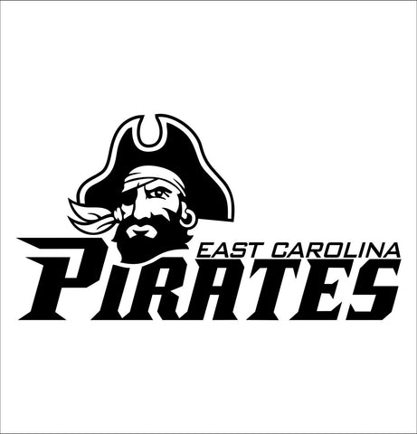 East Carolina Pirates decal, car decal sticker, college football