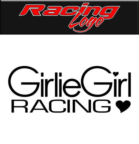 Girlie Girl Racing decal, racing sticker
