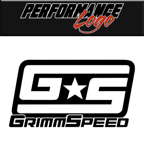 grimmspeed decal, car decal sticker