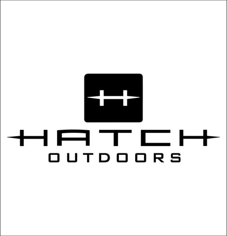 Hatch Outdoors decal, sticker, hunting fishing decal