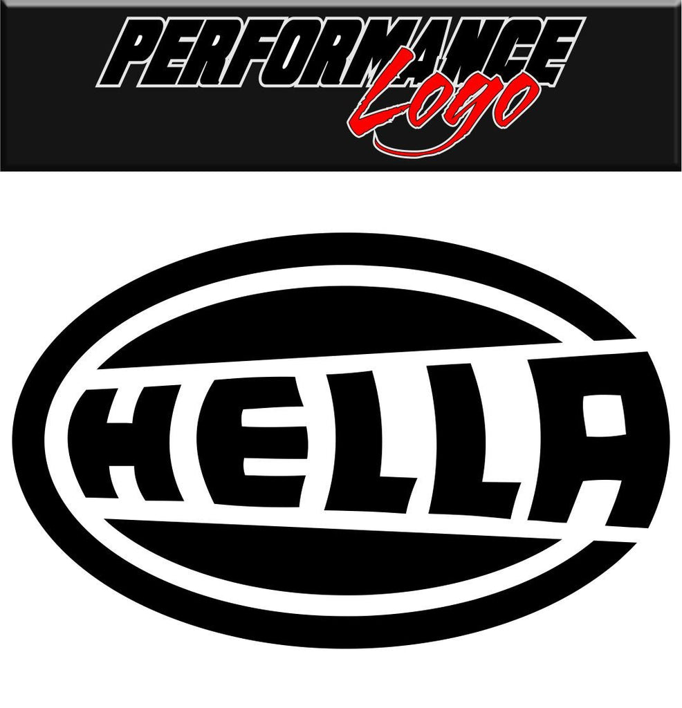 Hella decal performance decal sticker