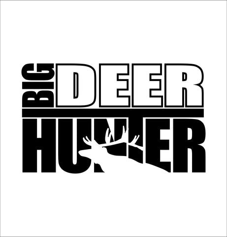 Big deer hunter hunting decal