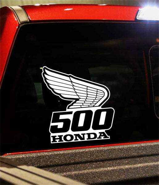 Honda 500 decal, performance decal, sticker