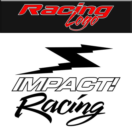 Impact Racing decal, racing sticker