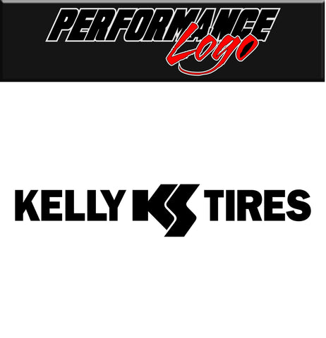 Kelly Tires decal, performance decal, sticker