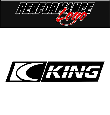 King Bearings decal, performance decal, sticker