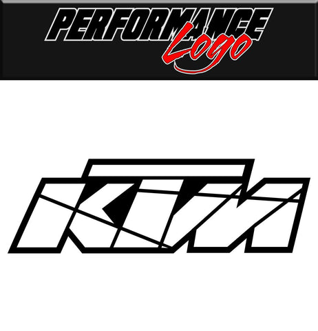 KTM decal, performance decal, sticker