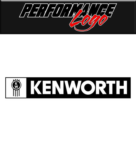 Kenworth decal, performance decal, sticker