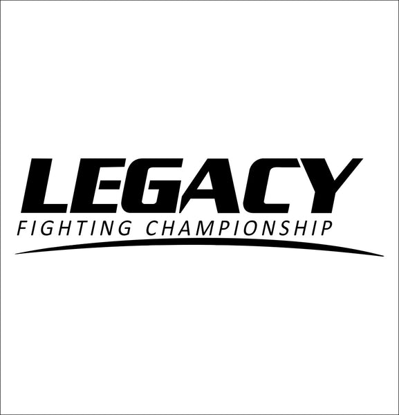 Legacy FC decal, mma boxing decal, car decal sticker