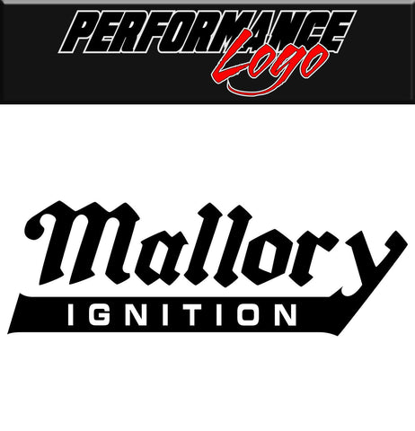Mallory Ignition decal, performance decal, sticker