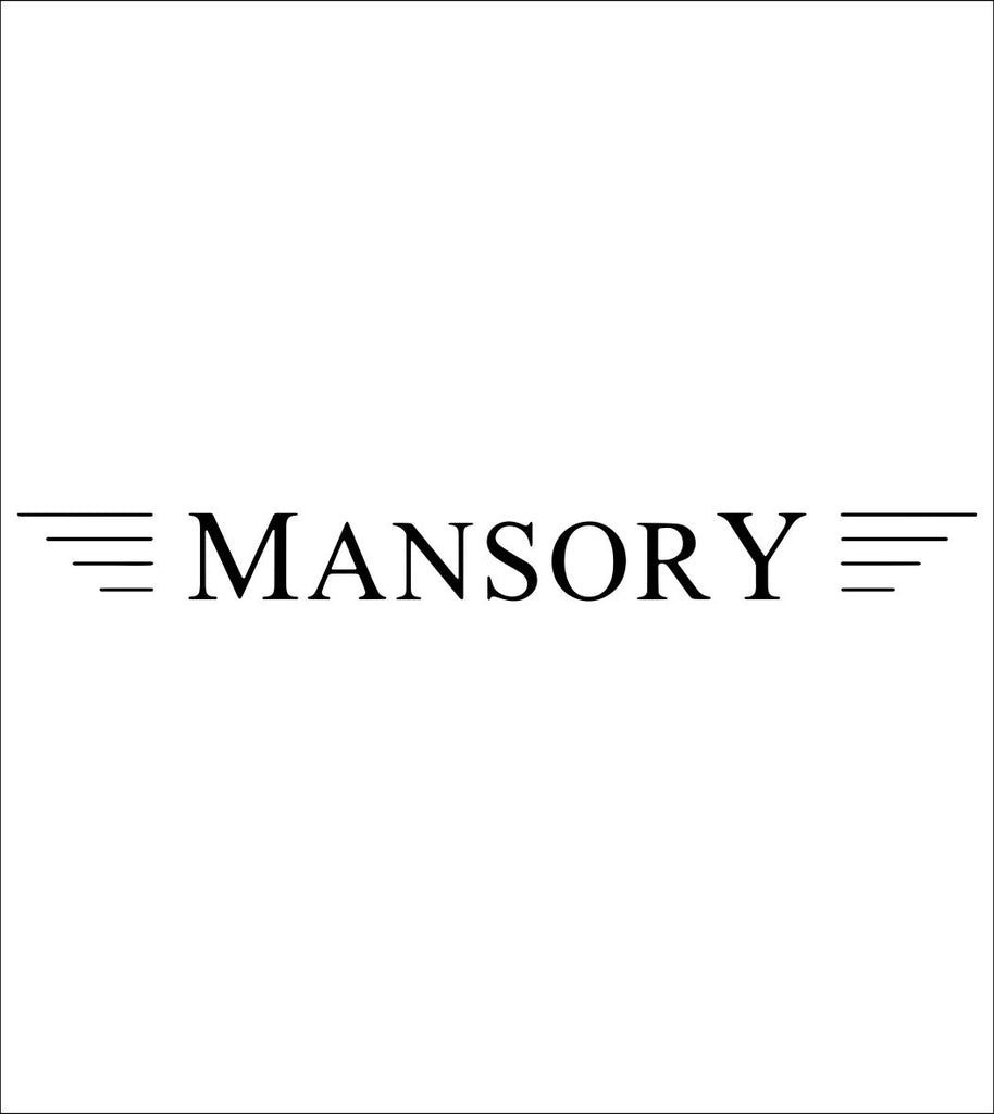 Mansory decal, sticker, car decal