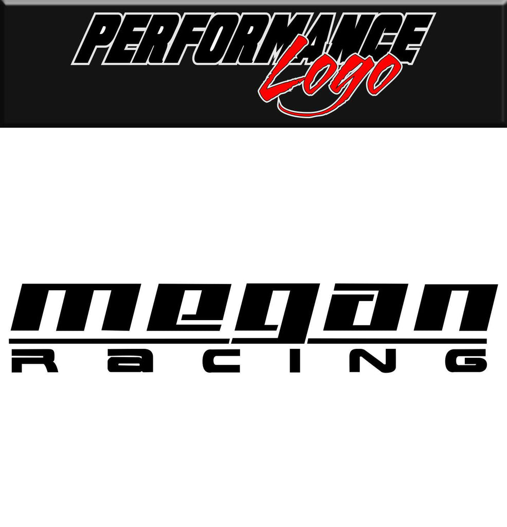 megan racing performance logo decal - North 49 Decals