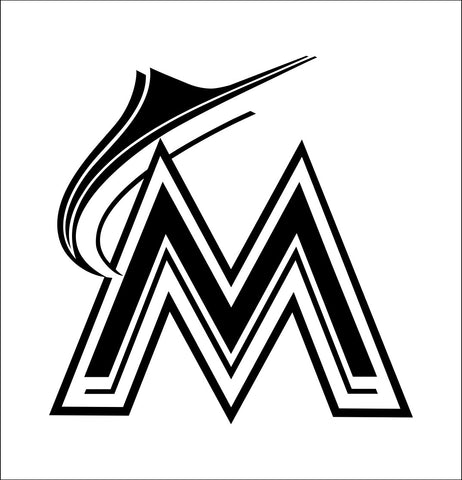 Miami Marlins decal, car decal sticker