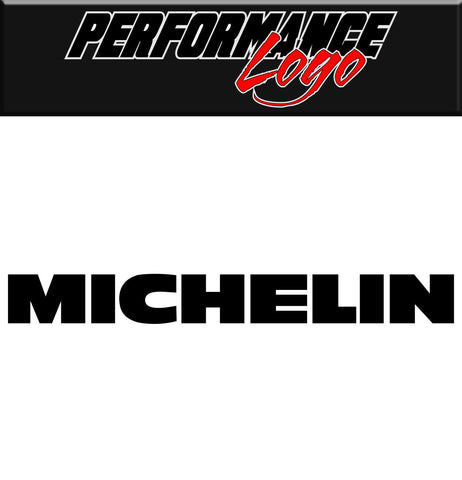 Michelin decal, performance decal, sticker
