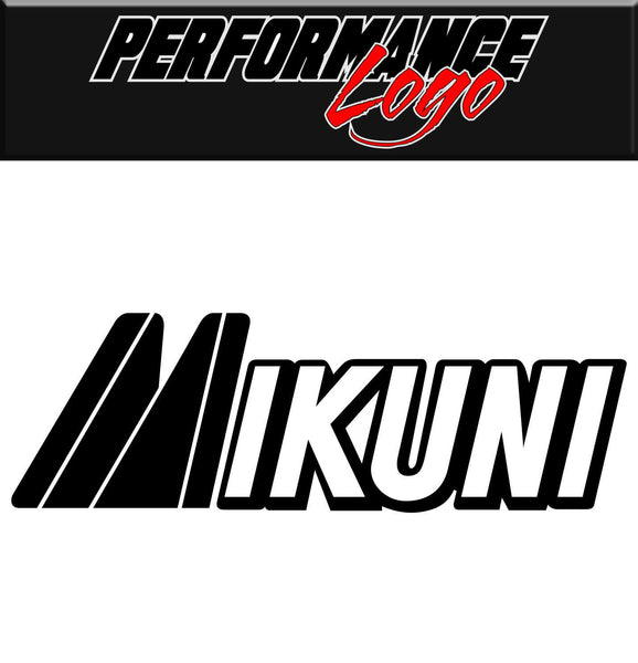 Mikuni decal, performance decal, sticker