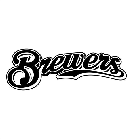 Milwaukee Brewers decal, car decal sticker