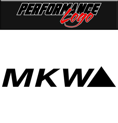 MKW decal, performance decal, sticker