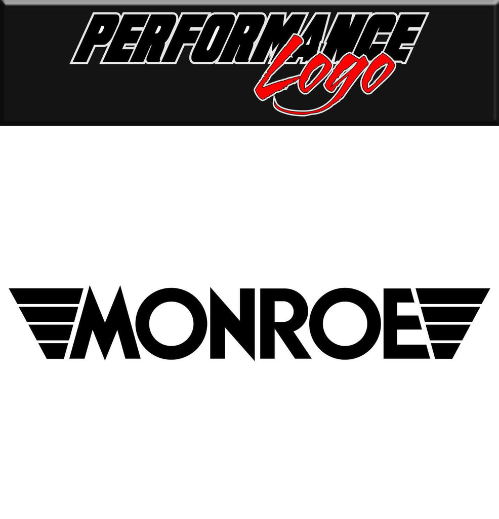 Monroe decal, performance decal, sticker