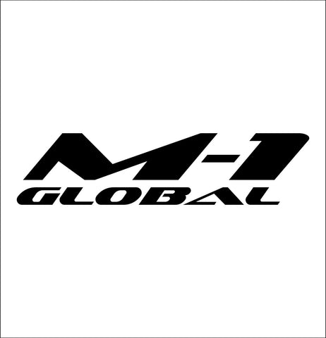 M-1 Global decal, mma boxing decal, car decal sticker