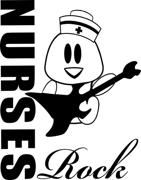 Nurses rock nurse decal - North 49 Decals