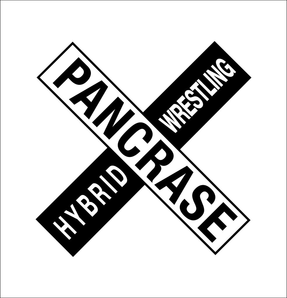 Pancrase decal, mma boxing decal, car decal sticker