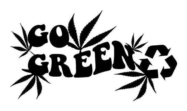 Go green marijuana decal - North 49 Decals