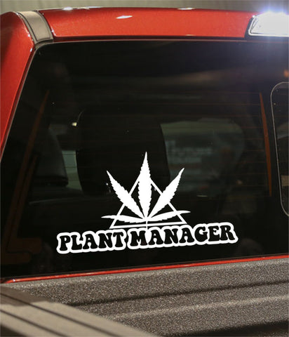 Plant manager marijuana decal - North 49 Decals