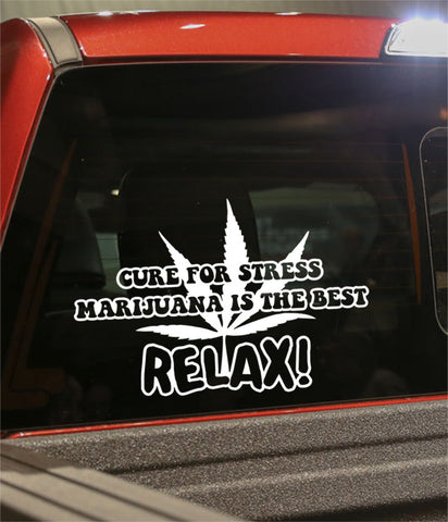 Relax marijuana decal - North 49 Decals