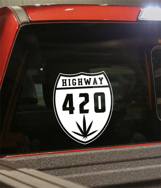 Highway 420 marijuana decal - North 49 Decals