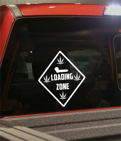 Loading zone marijuana decal - North 49 Decals