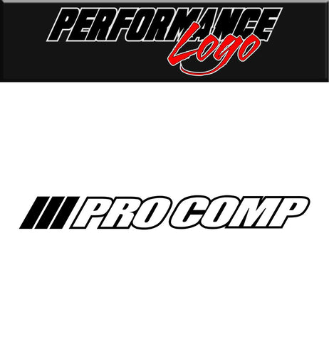 Pro comp decal, car decal, sticker