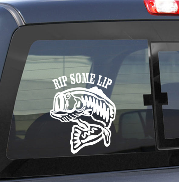 Rip some lip fishing decal - North 49 Decals