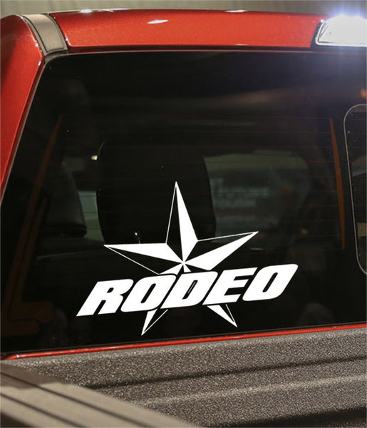 rodeo star 2 country & western decal - North 49 Decals